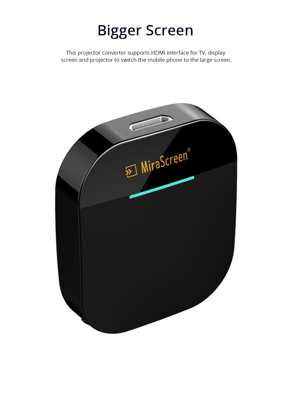Wireless HD Projector Display Mobile Phone Connected TV Artifact Screen Saver Projector Converter Display Receiver 3