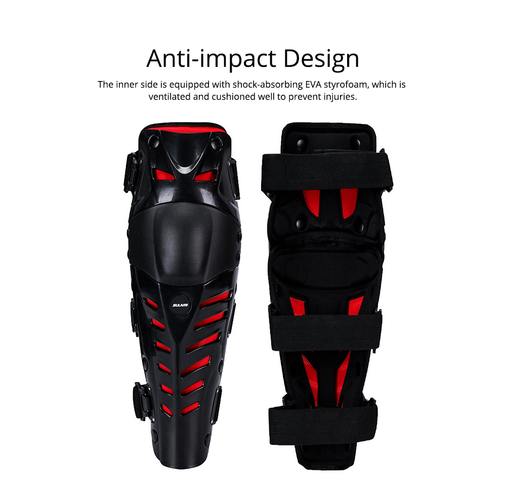 Motorcycle Knee Pads Breathable Tough Shatter-resistant Knee Pads Riding Protective Gear 5
