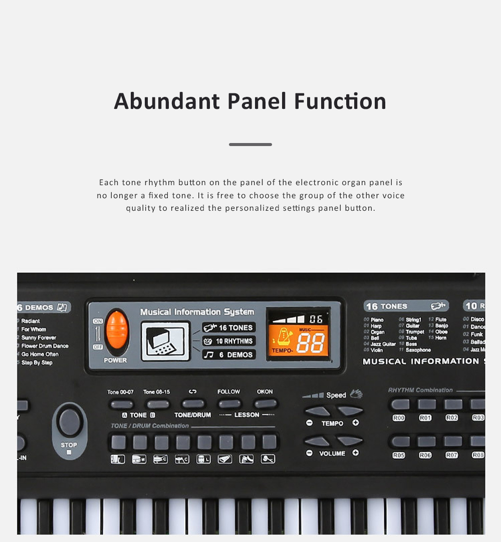 Multifunctional Electronic Organ Toy for Baby's Early Education Simulated 61-key Musical Instrument Toy Children Electronic Piano Organ 5