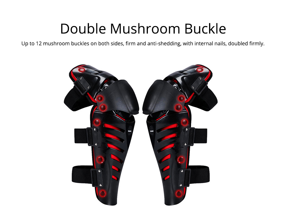 Motorcycle Knee Pads Breathable Tough Shatter-resistant Knee Pads Riding Protective Gear 2
