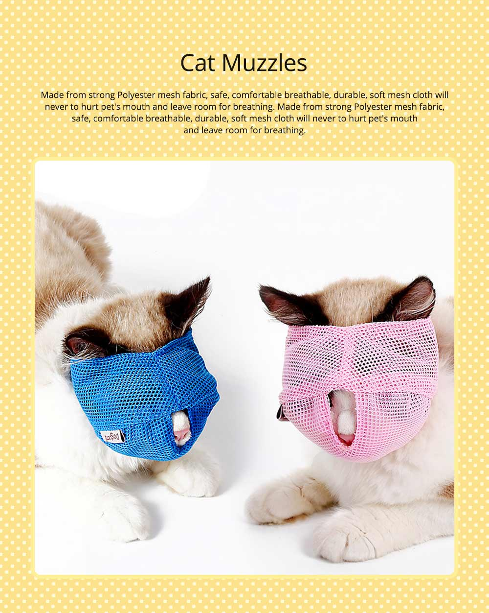 Cat Muzzles Cat Nylon Face Mask Pet Grooming Tools for Preventing scratches and Anti-biting 0