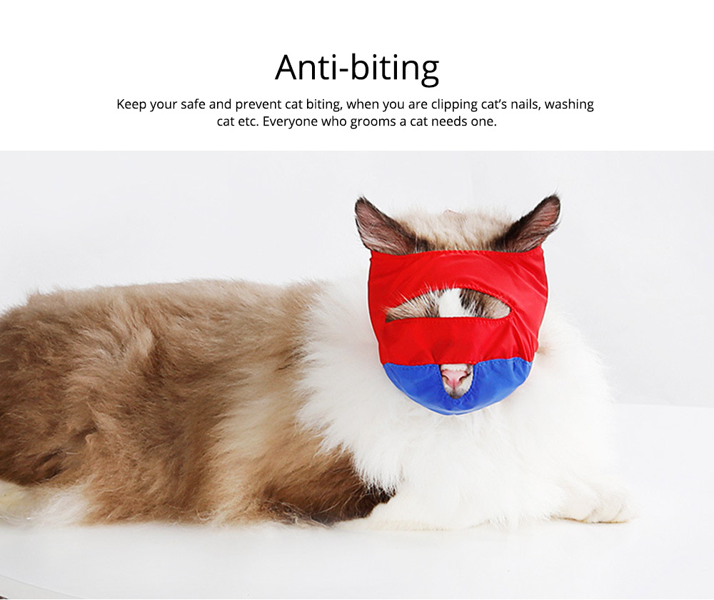 Waterproof Cat Muzzles Non-sticky Nylon Face Mask Pet Grooming Tools for Preventing Scratches Anti-biting 2