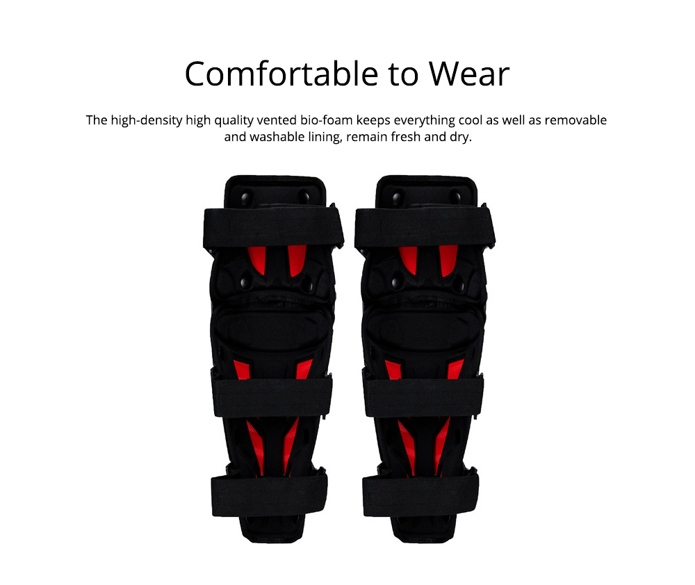 Motorcycle Knee Pads Breathable Tough Shatter-resistant Knee Pads Riding Protective Gear 1