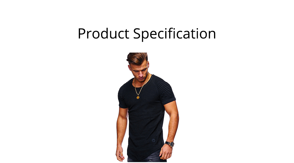 Men's Pure Color T-shirt Wrinkled Short Sleeve Shirt Fashion Stretch Sports Quick-dry T-Shirt 6