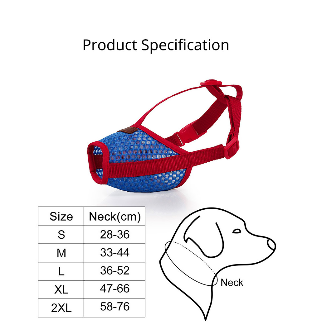 Dog Bark-stop Mask Waterproof Nylon Mouth Cover Muzzles, Pet Grooming Tools for Preventing Scratches and Biting Chewing 6