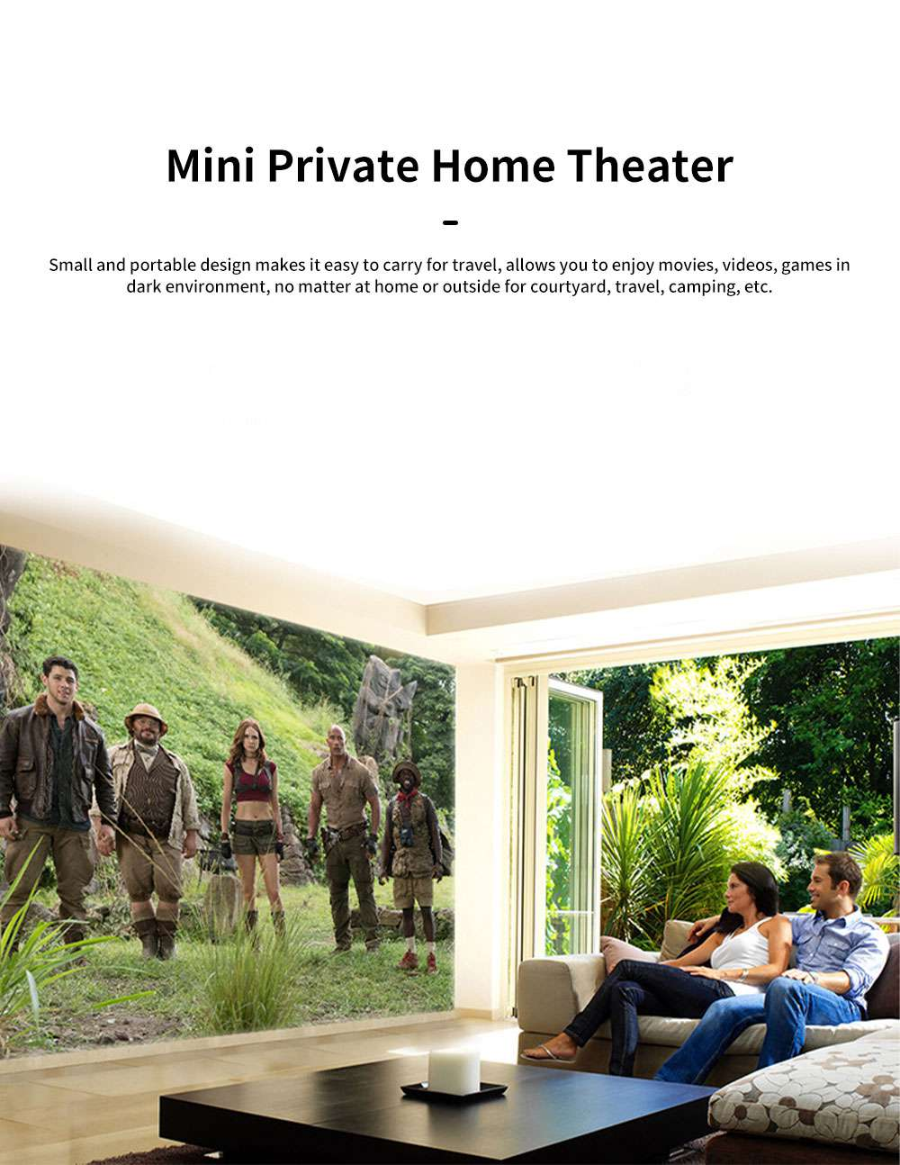 Q6 Mini Projector Portable HD 1080P Small Multimedia Projector for Home Theater Entertainment Games Parties Movie Projectors Support Laptop PC Smart Phone 1