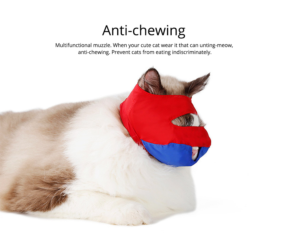 Waterproof Cat Muzzles Non-sticky Nylon Face Mask Pet Grooming Tools for Preventing Scratches Anti-biting 6