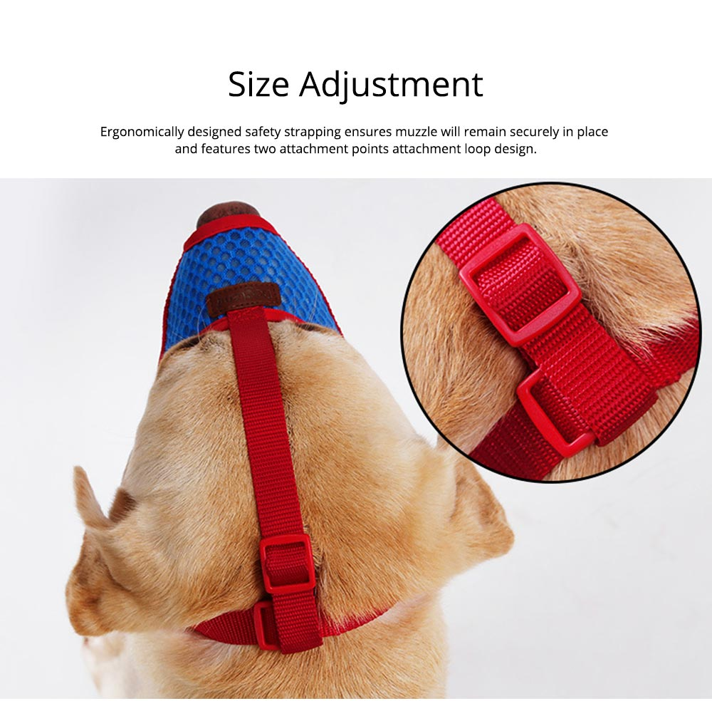 Dog Bark-stop Mask Waterproof Nylon Mouth Cover Muzzles, Pet Grooming Tools for Preventing Scratches and Biting Chewing 1