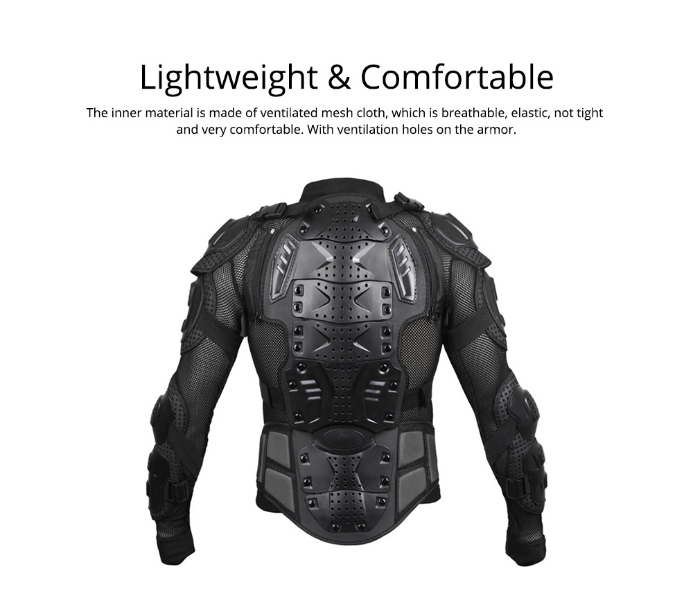 Motorcycle Protective Jacket Full Body Motorcycle Armor Protector Uniform, Long Sleeve Racing Amour for Cross-country Cycling Outdoors Sports 4