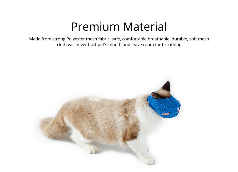 Cat Muzzles Cat Nylon Face Mask Pet Grooming Tools for Preventing scratches and Anti-biting 3