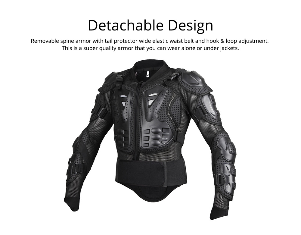 Motorcycle Protective Jacket Full Body Motorcycle Armor Protector Uniform, Long Sleeve Racing Amour for Cross-country Cycling Outdoors Sports 2