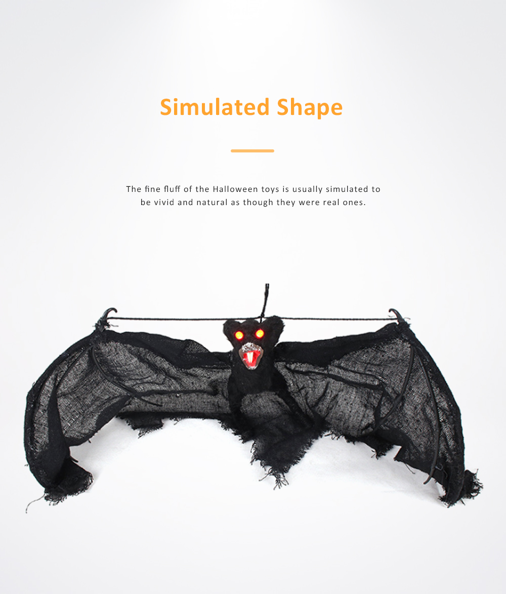 Luminous Spider Ghost String Toy for Halloween Fun Simulated Halloween Bat String Decorative Plaything Simulation Knickknack 3