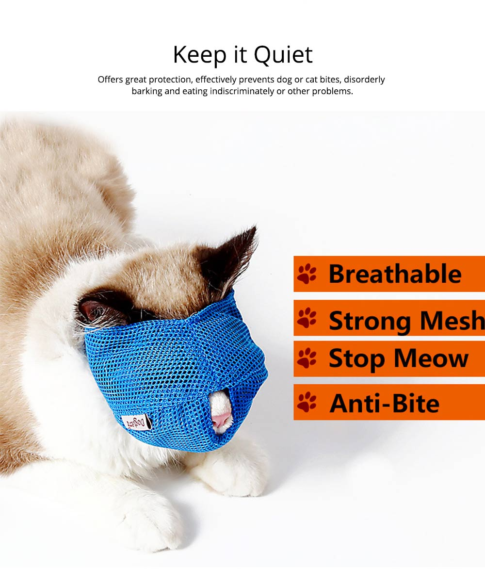Cat Muzzles Cat Nylon Face Mask Pet Grooming Tools for Preventing scratches and Anti-biting 4
