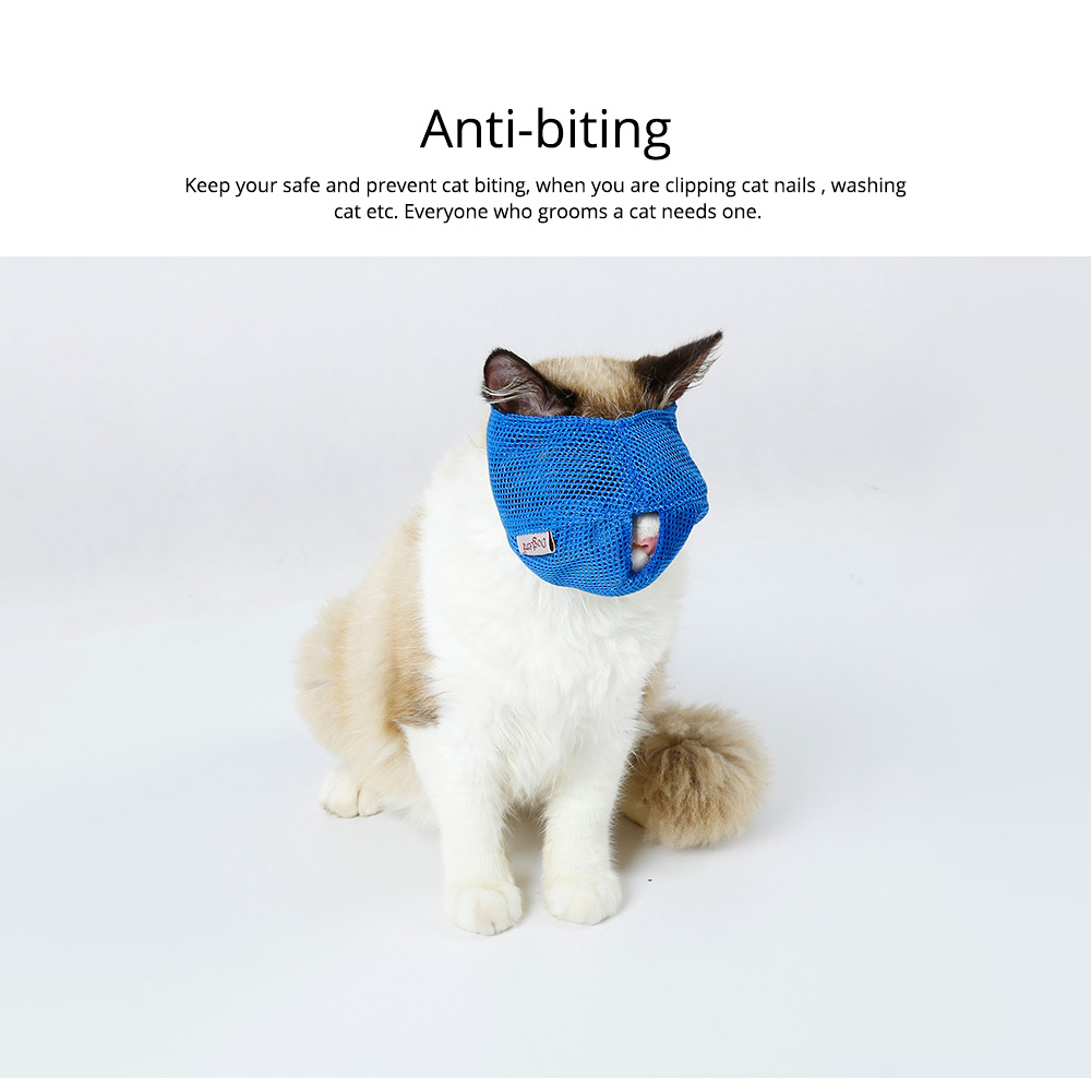Cat Muzzles Cat Nylon Face Mask Pet Grooming Tools for Preventing scratches and Anti-biting 2