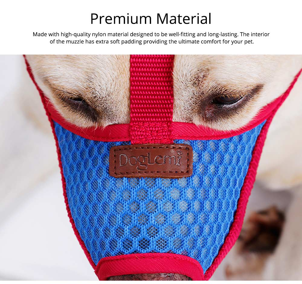 Dog Bark-stop Mask Waterproof Nylon Mouth Cover Muzzles, Pet Grooming Tools for Preventing Scratches and Biting Chewing 3