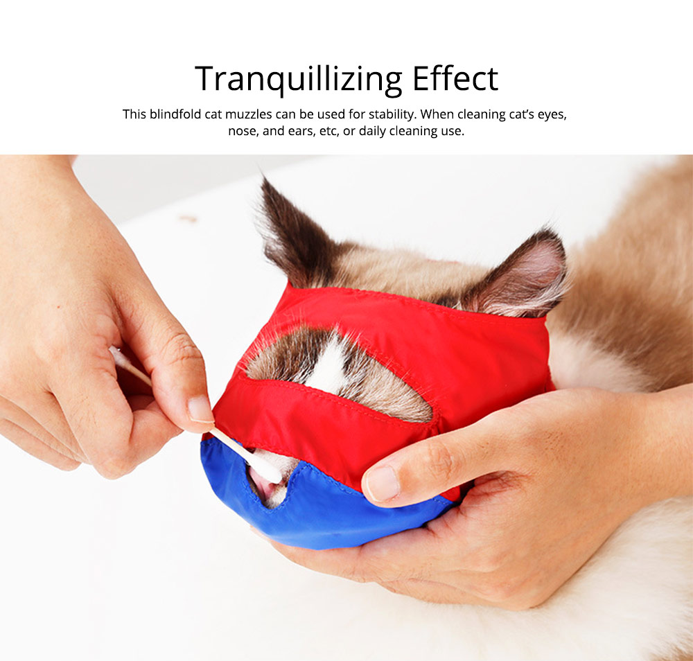 Waterproof Cat Muzzles Non-sticky Nylon Face Mask Pet Grooming Tools for Preventing Scratches Anti-biting 4
