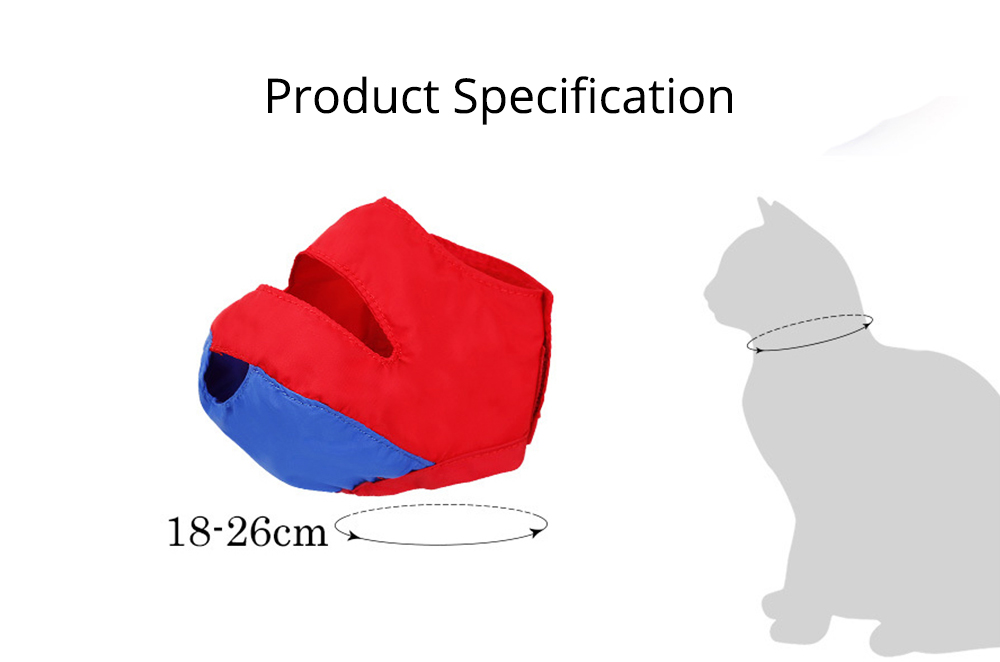 Waterproof Cat Muzzles Non-sticky Nylon Face Mask Pet Grooming Tools for Preventing Scratches Anti-biting 7