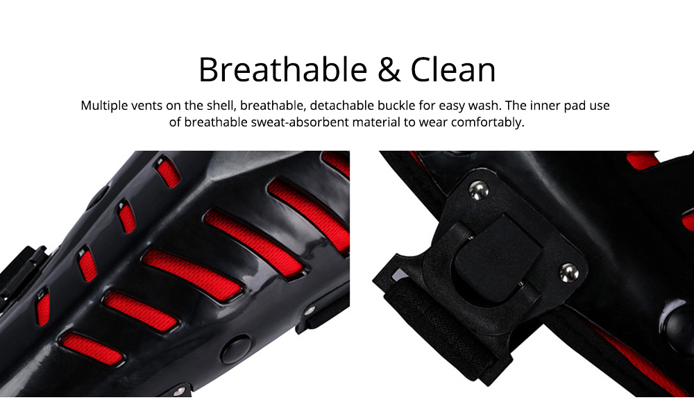 Motorcycle Knee Pads Breathable Tough Shatter-resistant Knee Pads Riding Protective Gear 4
