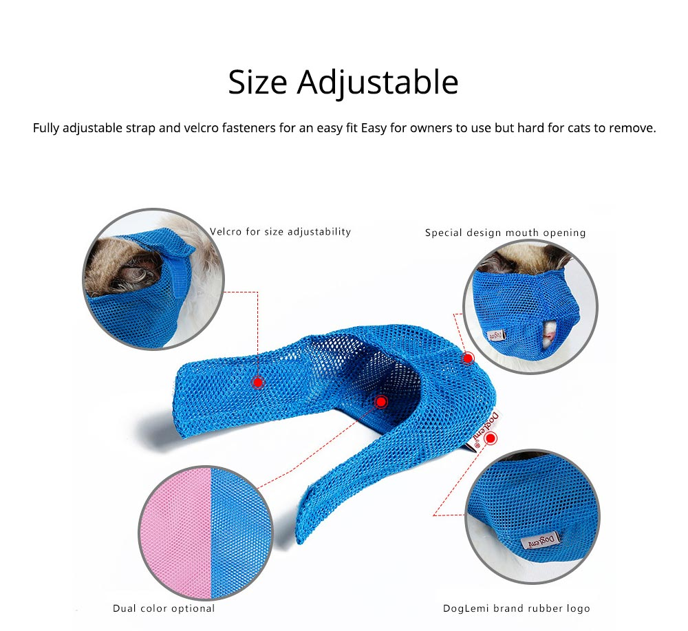 Cat Muzzles Cat Nylon Face Mask Pet Grooming Tools for Preventing scratches and Anti-biting 1