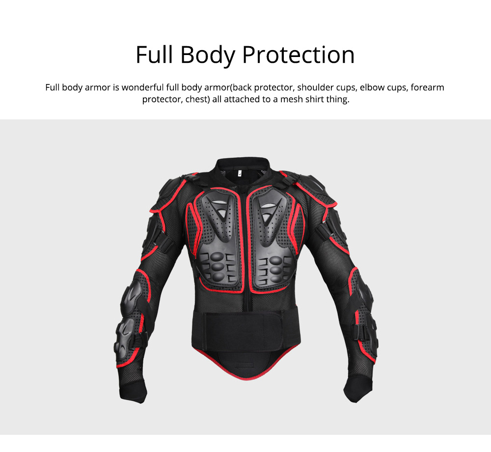 Motorcycle Protective Jacket Full Body Motorcycle Armor Protector Uniform, Long Sleeve Racing Amour for Cross-country Cycling Outdoors Sports 1