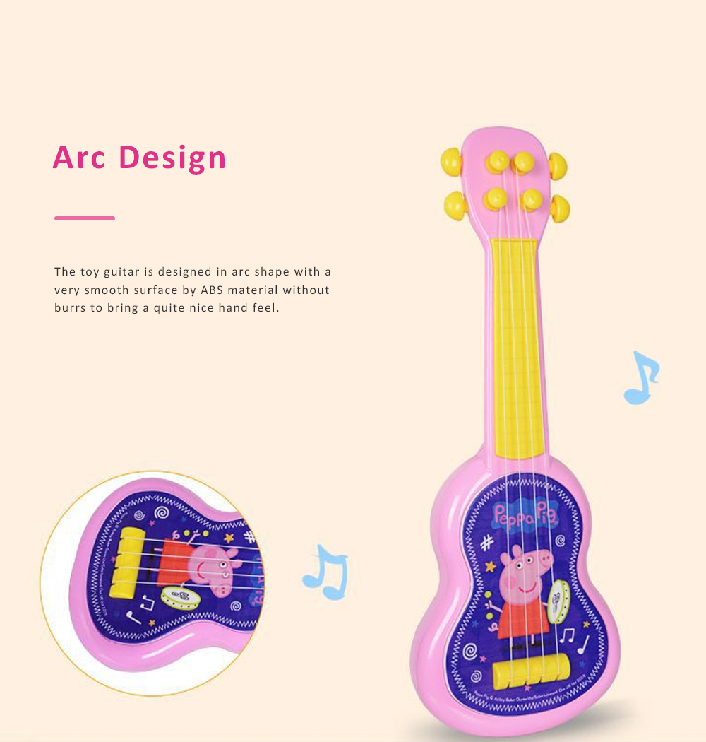 Simulated Mini Guitar Toy for Kids' Gift Choice Peppa Pig Pattern Guitar Toy Small Size Musical Instrument Plaything 1