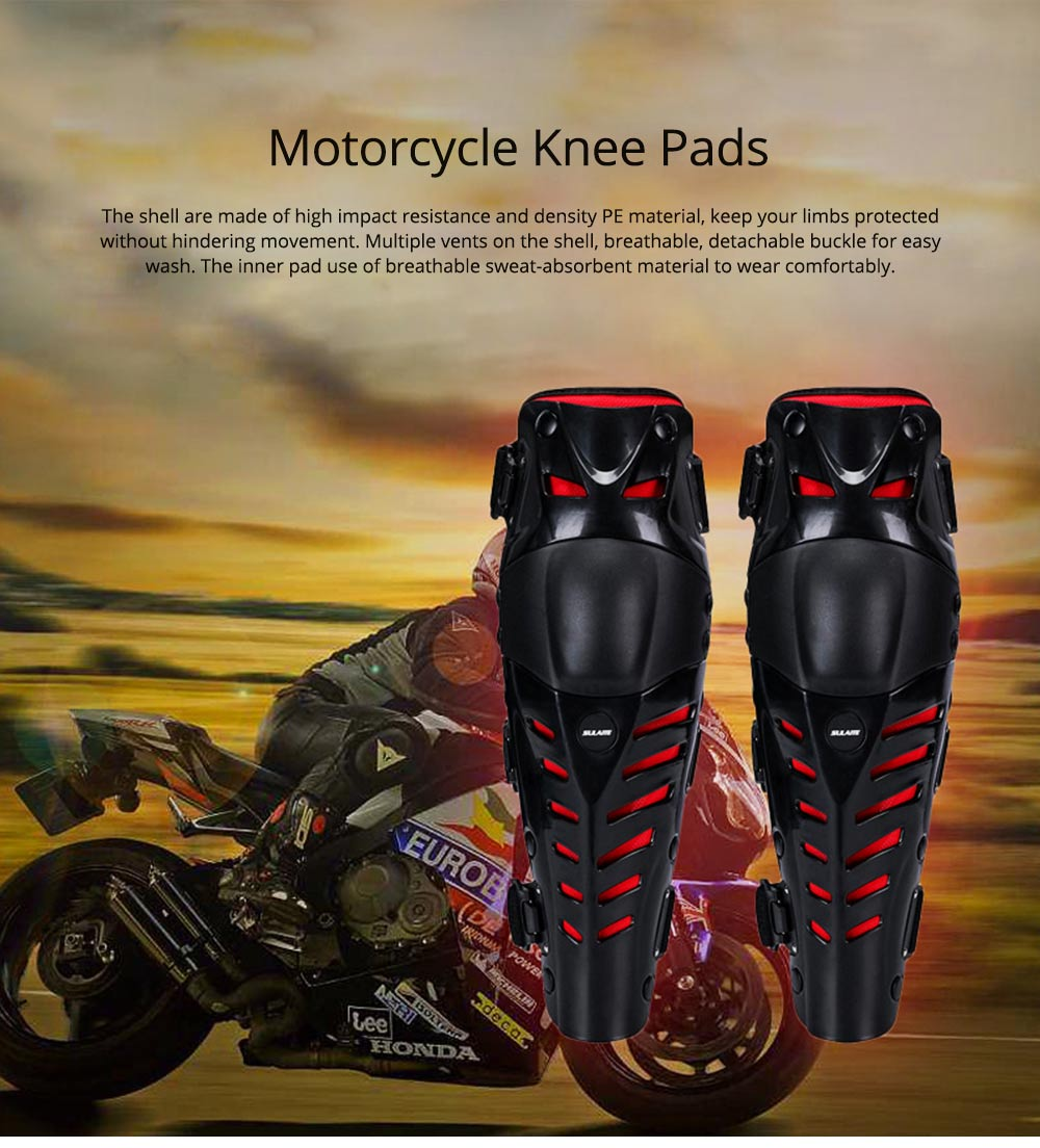 Motorcycle Knee Pads Breathable Tough Shatter-resistant Knee Pads Riding Protective Gear 0