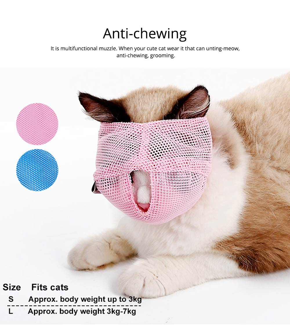 Cat Muzzles Cat Nylon Face Mask Pet Grooming Tools for Preventing scratches and Anti-biting 5