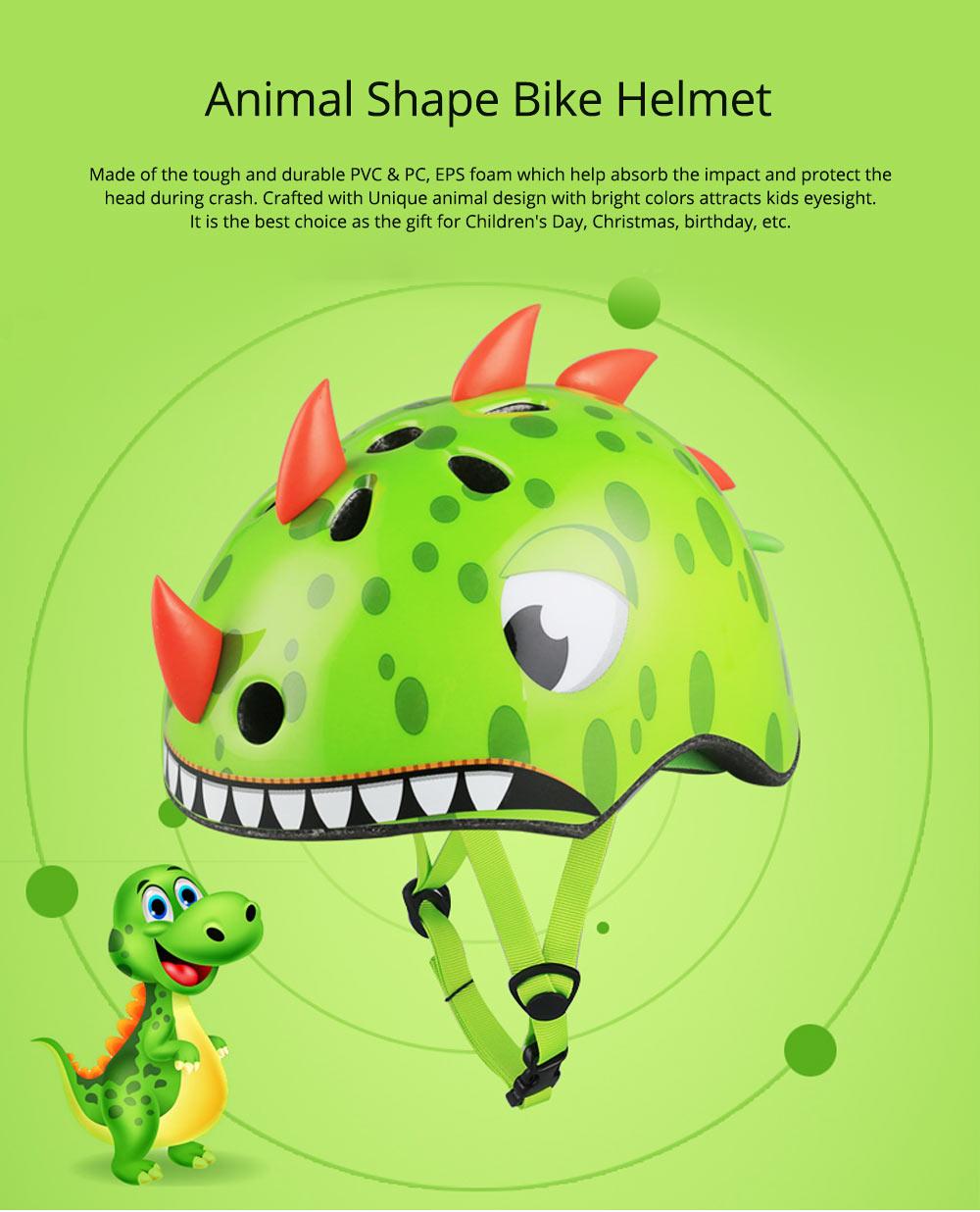 Animal Shape Bike Helmet for Kids, Children's Airflow Helmets Multi-Sport Safety Bike Helmet Cycling Helmet 0