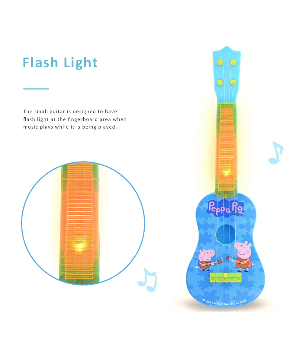 Simulated Mini Guitar Toy for Kids' Gift Choice Peppa Pig Pattern Guitar Toy Small Size Musical Instrument Plaything 4