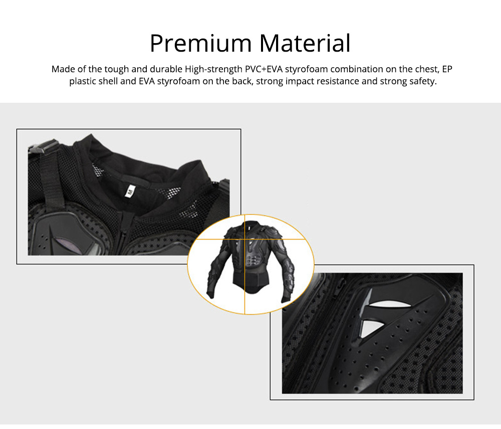 Motorcycle Protective Jacket Full Body Motorcycle Armor Protector Uniform, Long Sleeve Racing Amour for Cross-country Cycling Outdoors Sports 3