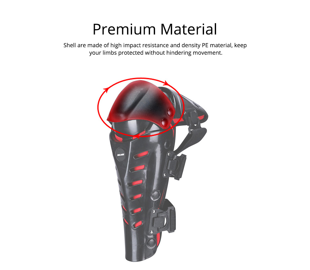 Motorcycle Knee Pads Breathable Tough Shatter-resistant Knee Pads Riding Protective Gear 3