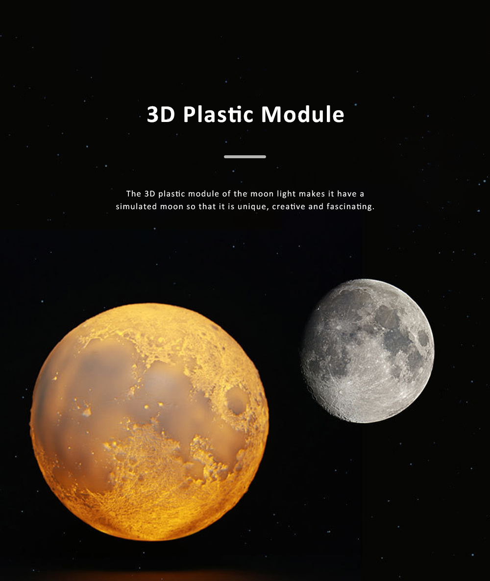 Three-dimensional Printing Moon Light for Living Room Hotel Lobby Green and Nontoxic Night Lamp Touch Control Light 1