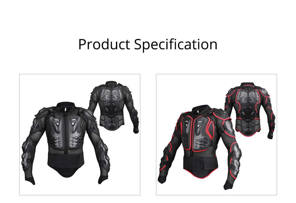 Motorcycle Protective Jacket Full Body Motorcycle Armor Protector Uniform, Long Sleeve Racing Amour for Cross-country Cycling Outdoors Sports 7