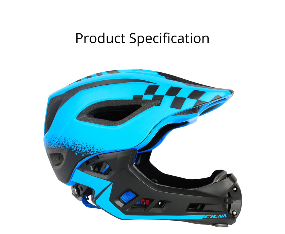 Children's Helmet for Roller Skating, Cycling, Detachable Full Face Helmet Airflow Bicycle Helmets for Kids 6