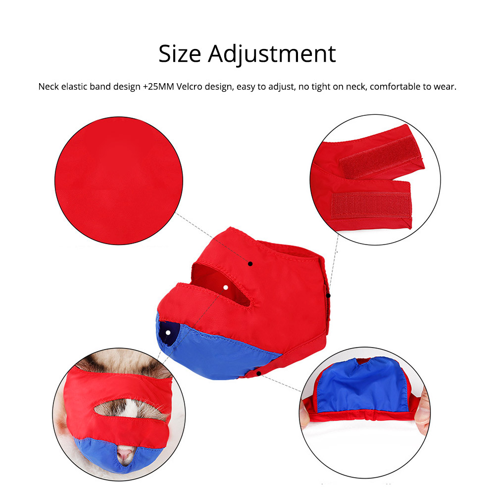 Waterproof Cat Muzzles Non-sticky Nylon Face Mask Pet Grooming Tools for Preventing Scratches Anti-biting 1