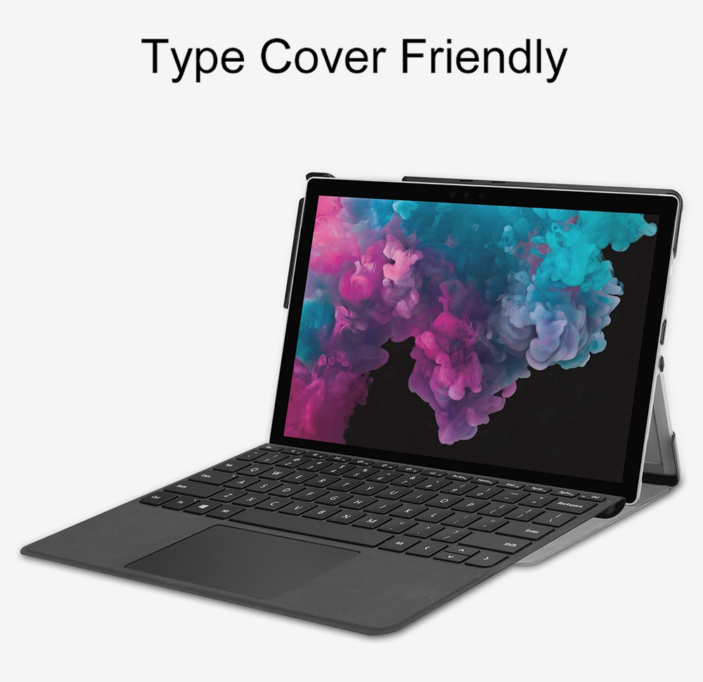 12.3'' Tablet Case for 2018 Surface Pro 4 Pro 5 Pro 6 Microsoft Pro 4 12.3 inch Tablet Leather Case Full Protection Stand Cover 4