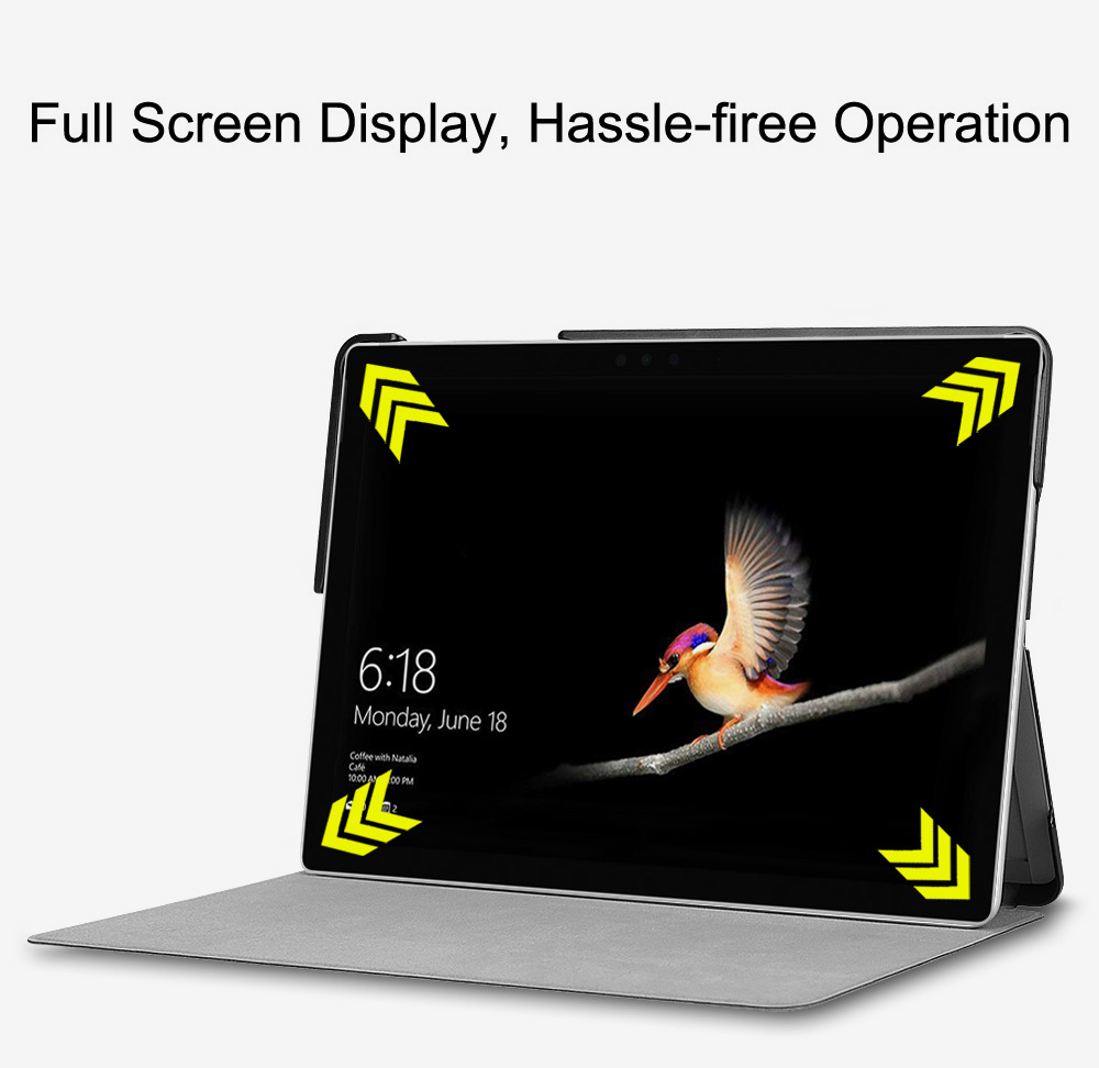 Tablet Protective Cover Suitable for Microsoft Surface Go with Pen Slot Front Support Keyboard Leather Cover 10 inch Tablet Protective Stand Cover 0