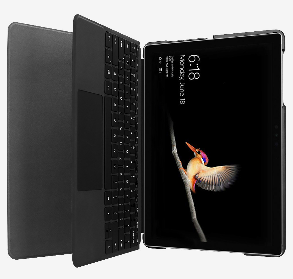 Tablet Protective Cover Suitable for Microsoft Surface Go with Pen Slot Front Support Keyboard Leather Cover 10 inch Tablet Protective Stand Cover 5