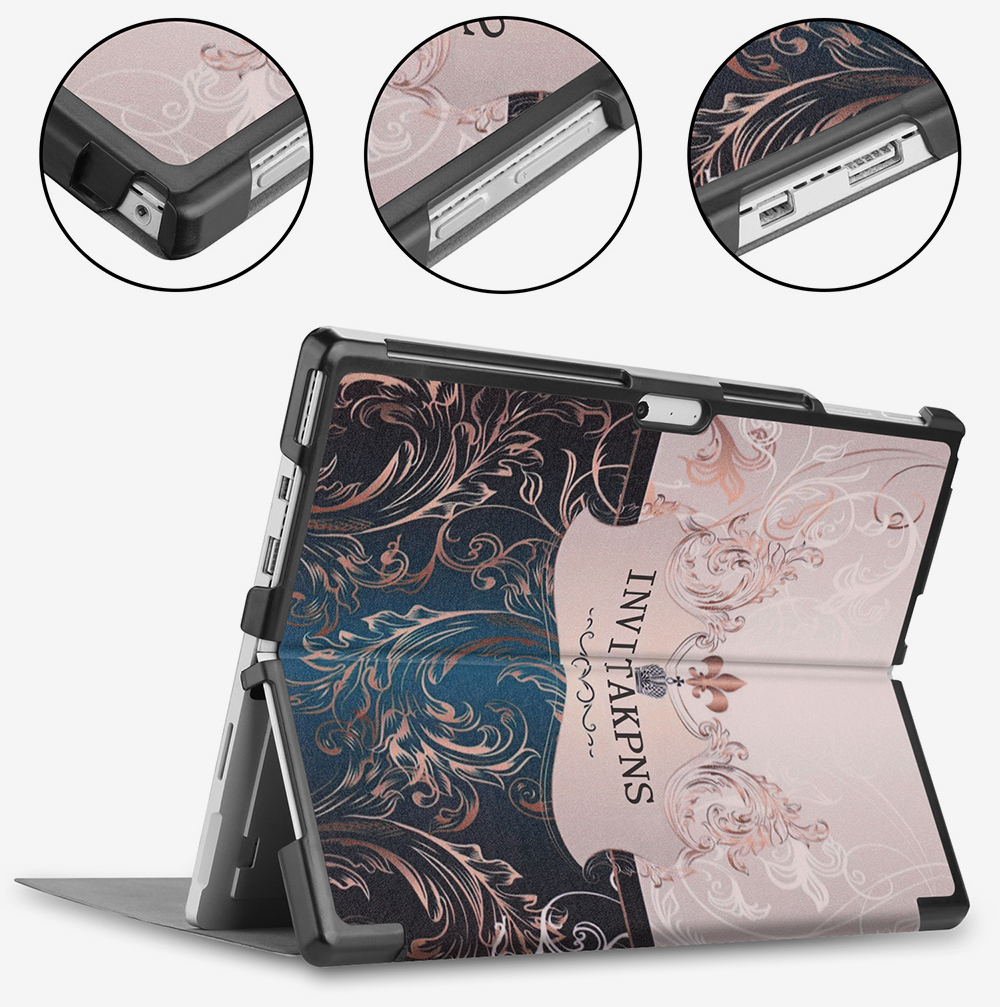 12.3'' Tablet Case for 2018 Surface Pro 4 Pro 5 Pro 6 Microsoft Pro 4 12.3 inch Tablet Leather Case Full Protection Stand Cover 5
