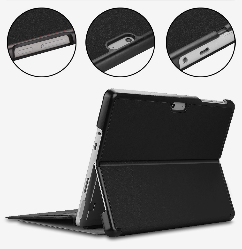 Tablet Protective Cover Suitable for Microsoft Surface Go with Pen Slot Front Support Keyboard Leather Cover 10 inch Tablet Protective Stand Cover 2