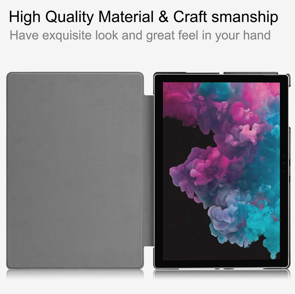 12.3'' Tablet Case for 2018 Surface Pro 4 Pro 5 Pro 6 Microsoft Pro 4 12.3 inch Tablet Leather Case Full Protection Stand Cover 1