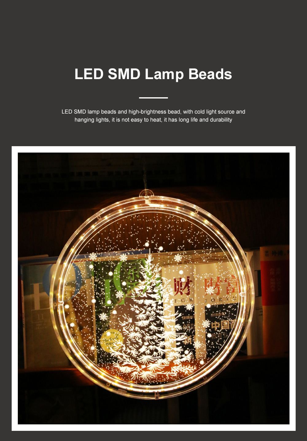 2019 Hot LED 3D Christmas Curtain Lights USB Window Curtain String Light Indoor Lights Bedroom Hotel Decoration 6