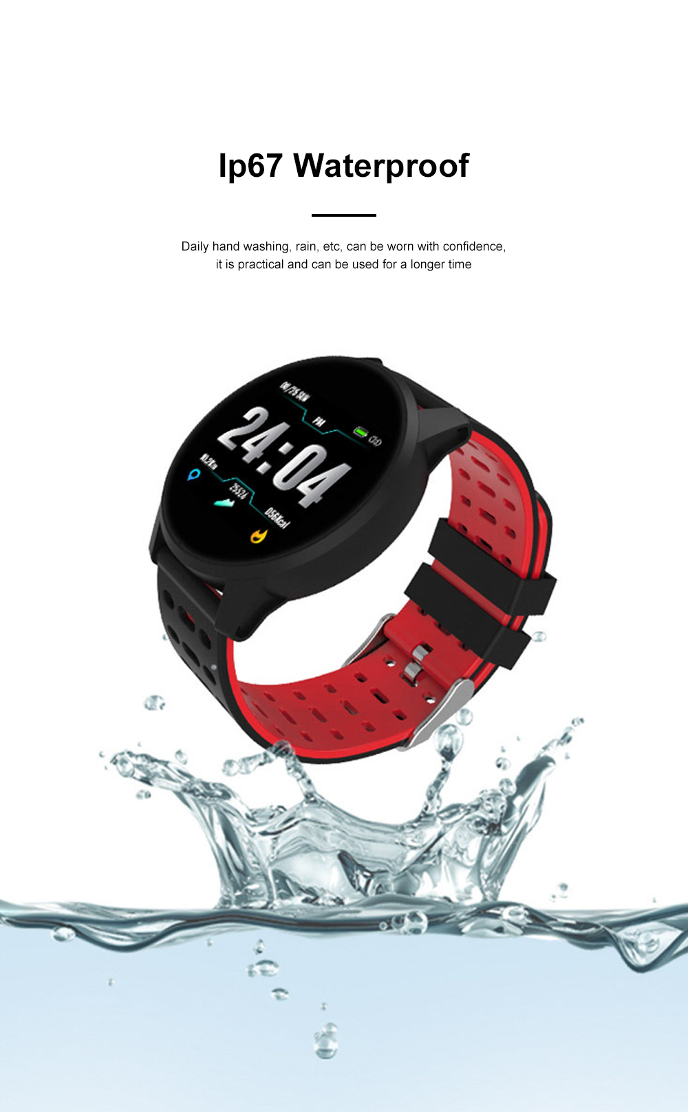 2019 Hot Smart Watch Support Heart Rate Monitor Blood Pressure Bracelet for Ios Android Phone Sport Smart Watch 8