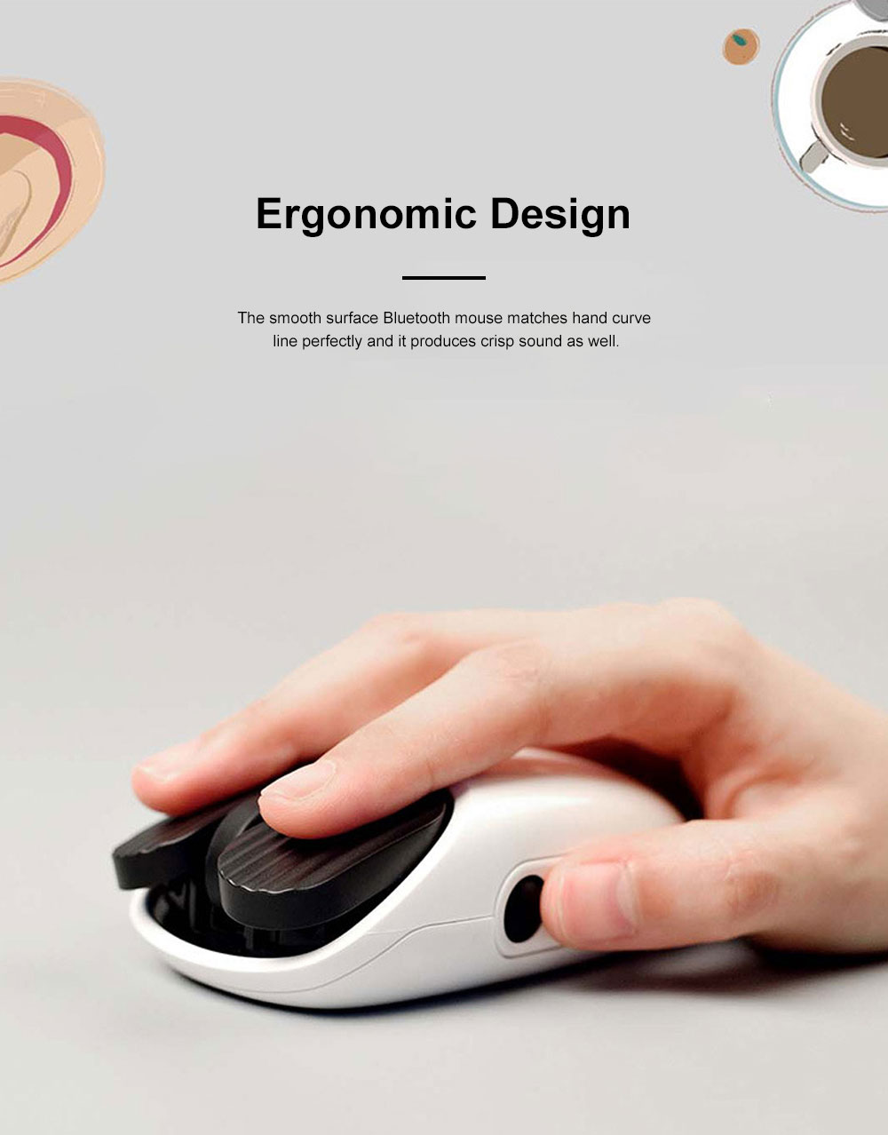 LOFREE New Arrival Bluetooth Mouse for Office Gaming Use Wireless Nordic Bluetooth Chip Optical Mouse Dual Connection Mode Mouse 2
