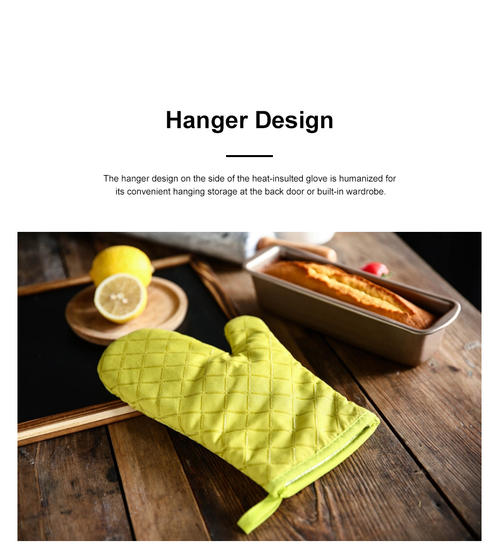 Heat Resistant Baking Glove for Oven Microwave Oven Thickened and Heat-insulated Glove Cotton Cloth Anti-scald Glove 3