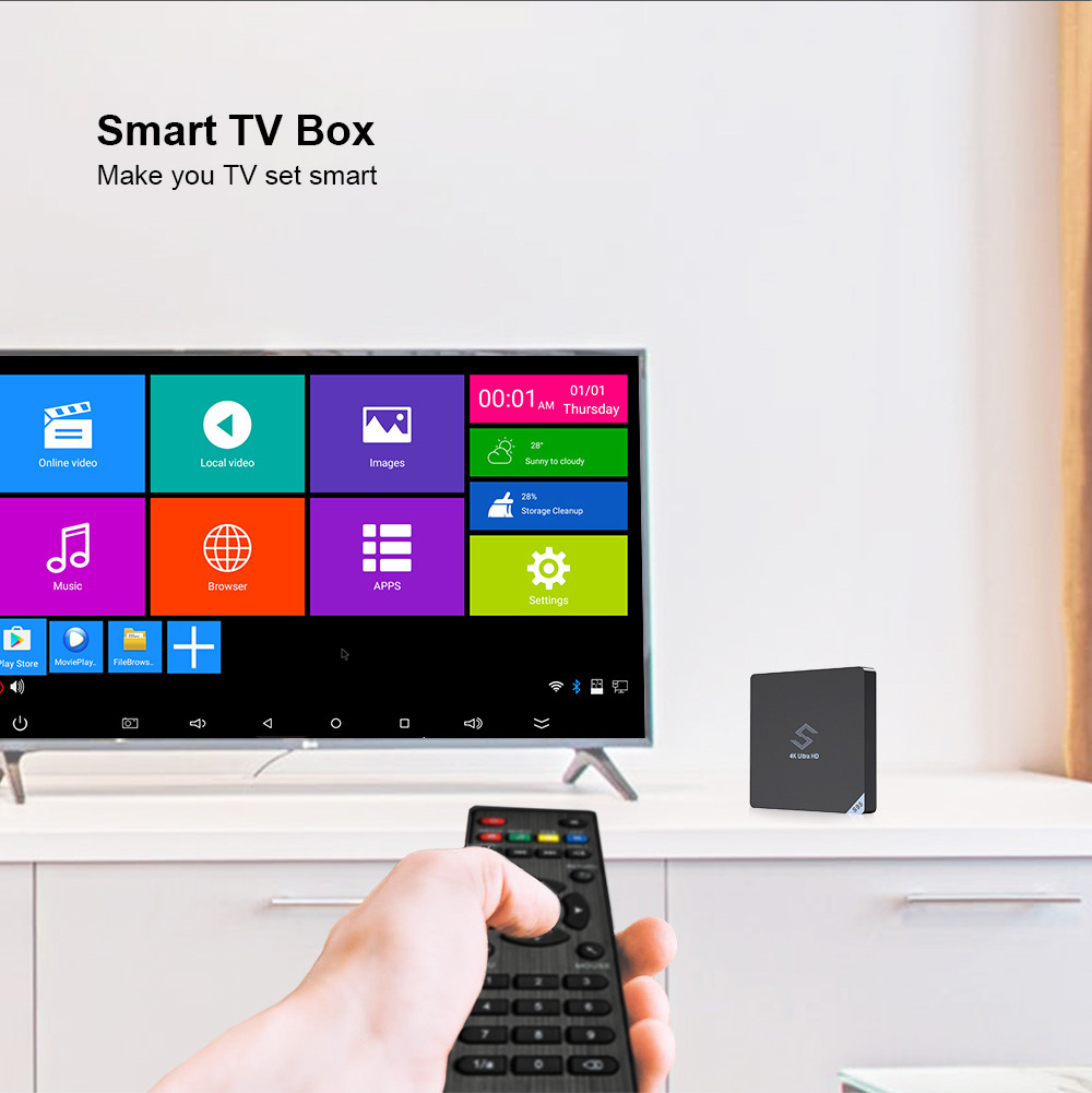 Beelink S95 Smart TV Box S905X2 Quad-core ARM Cortex-A53 Processor Android 8.1 4K TV Box with Remote Control and Dual Band WiFi 4G 32G 2