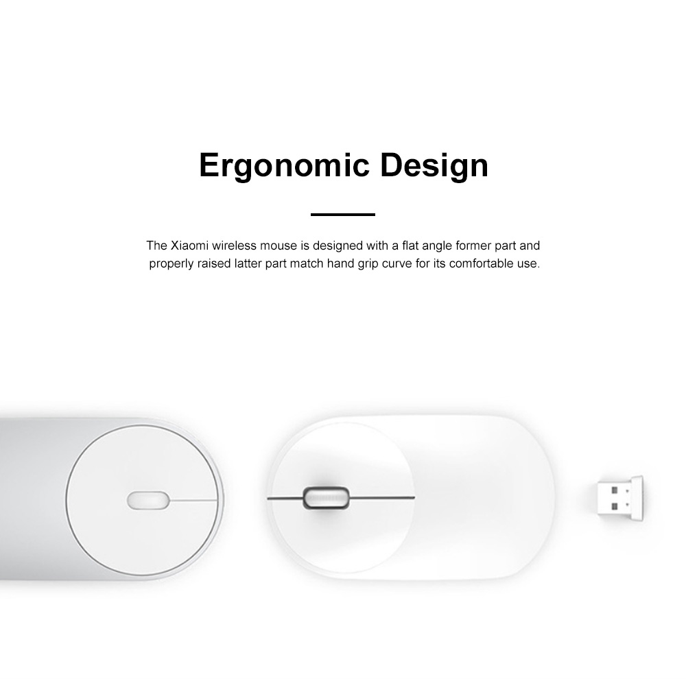 Xiaomi Wireless Mouse Youth Version for Home Office High Transmission Dual Button Laptop Mouse Accurate Positioning Mouse 1