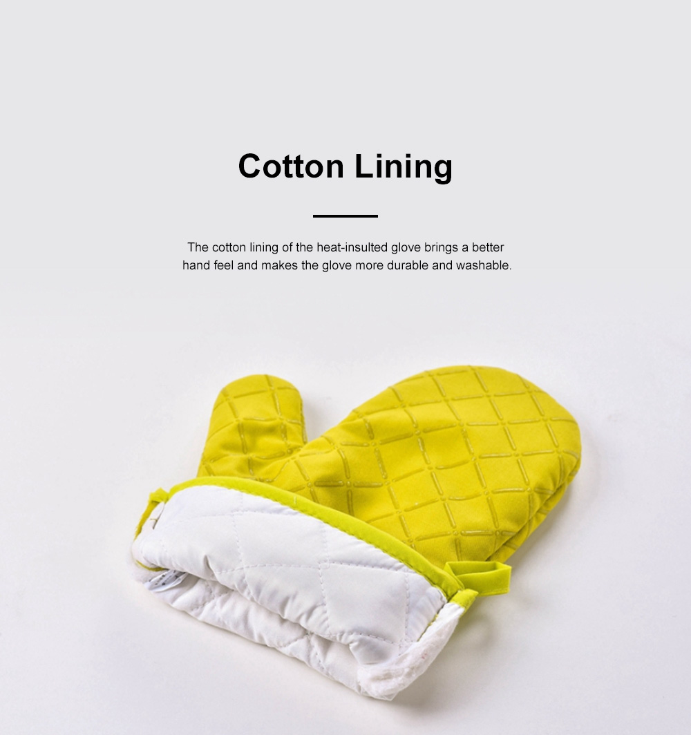 Heat Resistant Baking Glove for Oven Microwave Oven Thickened and Heat-insulated Glove Cotton Cloth Anti-scald Glove 5