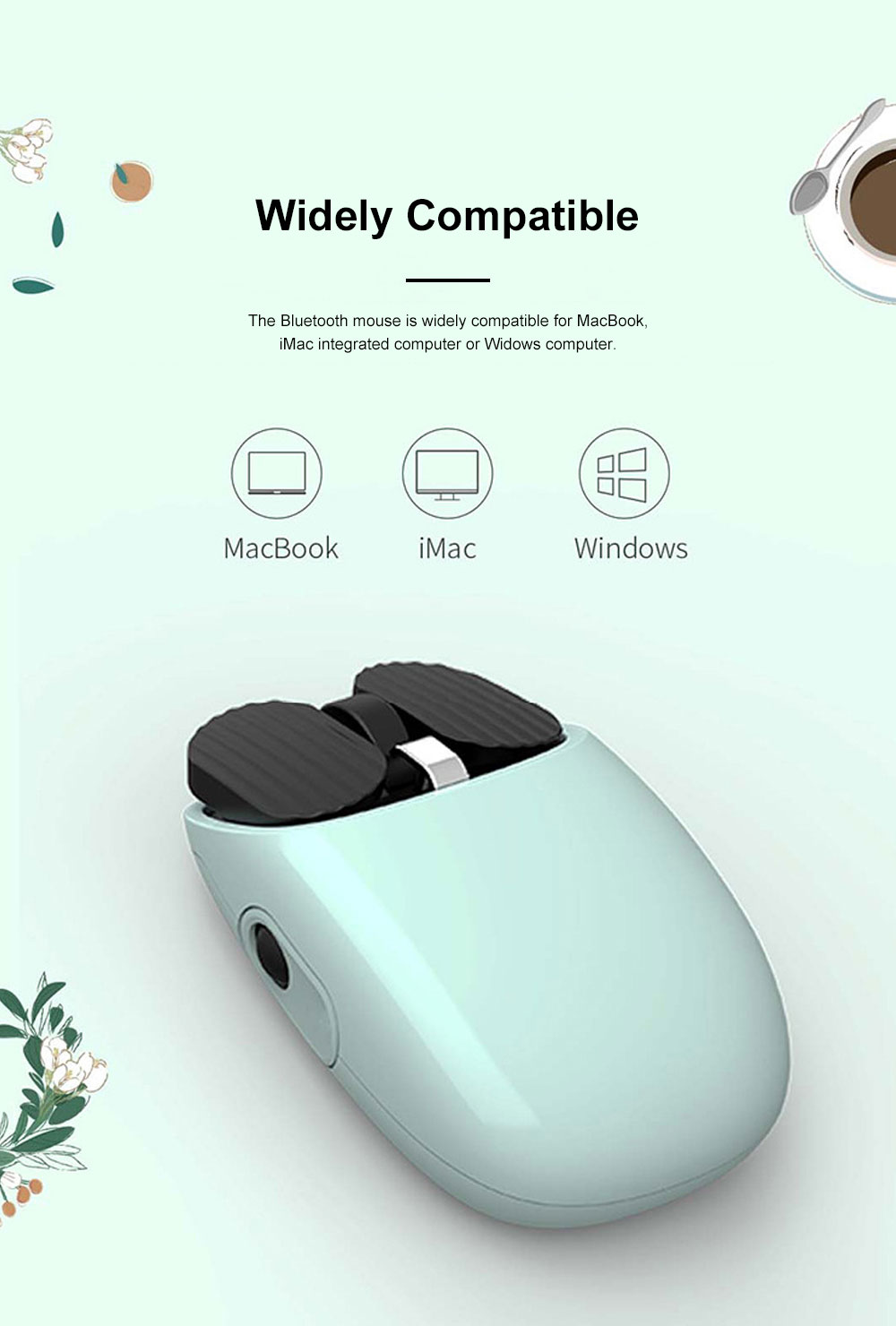 LOFREE New Arrival Bluetooth Mouse for Office Gaming Use Wireless Nordic Bluetooth Chip Optical Mouse Dual Connection Mode Mouse 7