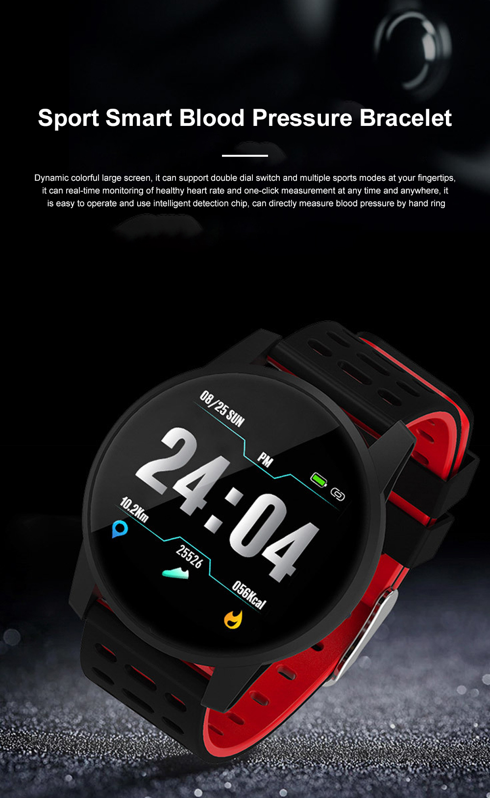 2019 Hot Smart Watch Support Heart Rate Monitor Blood Pressure Bracelet for Ios Android Phone Sport Smart Watch 0